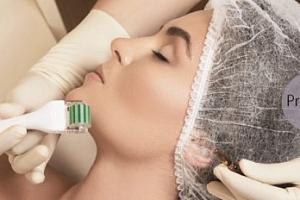 Hloubkové ošetření pletiu + galvanoterapie i mezoterapie...