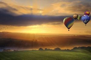 Vyhlídkový let balonem...