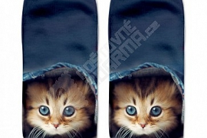 Dámské ponožky s motivy kočiček...