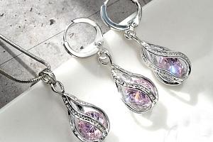Sada šperků ve tvaru kapek...