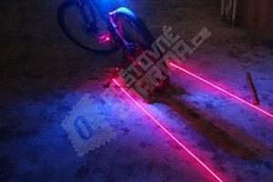 Laserové zadní LED světlo na kolo...