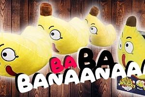 Plyšový banán se zvukem...