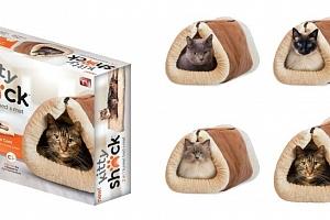 Plyšový pelíšek a podložka pro kočku...