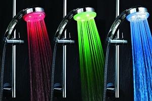 LED sprchová hlavice měnící barvy do sprchy...