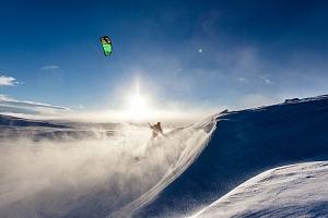 Kurz snowkitingu...