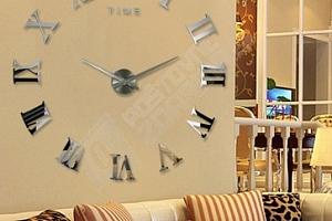 Velké zrcadlové hodiny na stěnu...