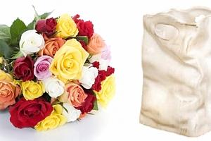 Designová netradičně vytvarovaná keramická taška s patinou...