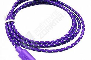 Pletený nylonový micro USB kabel...