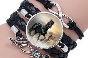 Sada náramků - koňská láska...