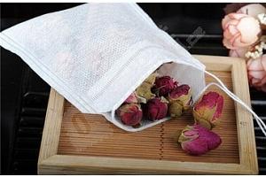 Prázdné čajové sáčky z netkané textilie - 100 ks...