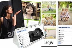 Originální kalendář z vlastních fotek v různých provedeních a formátech
