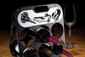 Stojan na víno s příslušenstvím...