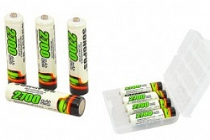 4ks tužkové nabíjecí baterie AAA...
