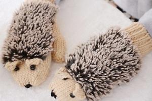 Dámské rukavice v podobě ježečka...