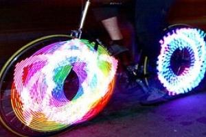 LED světlo do výpletu kola...