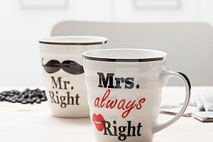 Hrnky Mr. Right + Mrs. Always Right...