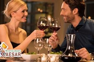 Romantické 3chodové menu s lahví vína pro 2 osoby...