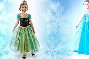 Šaty Frozen princezny Elsy a Anny...