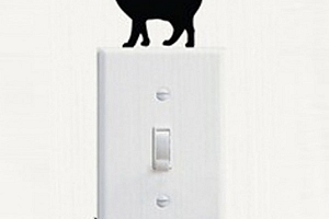 Samolepka nad vypínač - kočka...
