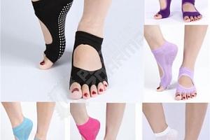 Kotníkové ponožky na jógu v černé barvě...