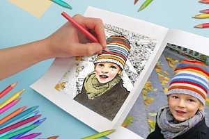 Originální omalovánky pro děti  z vašich vlastních fotografií...