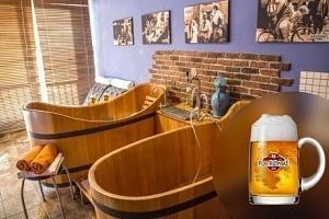 Poděbradské pivní lázně s řadou procedur a konzumací piva pro dva...