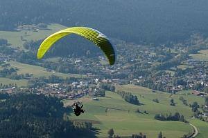 Tandemový paragliding v Beskydech...