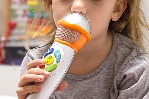 Dětský mikrofon se světly a zvuky...