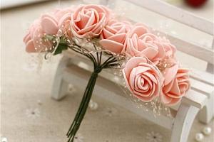 Květiny umělé na dekoraci - 12 ks...
