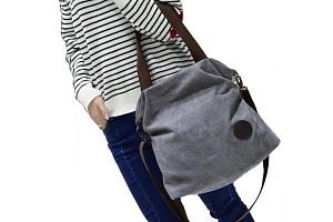 Prostorná plátěná kabelka...