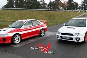 Závodní den v Mitsubishi a Subaru...