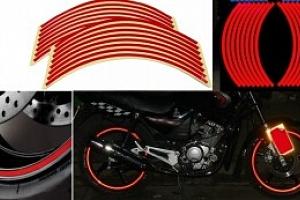 Reflexní samolepící pásky na kola...