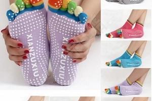 Antiskluzové ponožky na jógu...