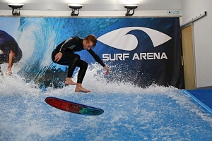 Indoor surfing...