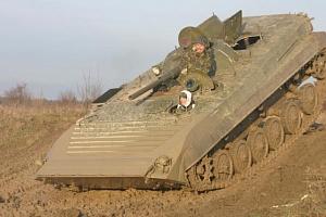 Řízení bojového vozu BVP...