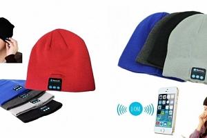 Bluetooth čepice se zabudovanými sluchátky a mikrofonem...