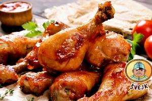 1 kg kuřecích paliček pro 2 až 4 osoby + přiloha...
