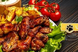 2 kg pečená kuřecí křídla + obloha a pečivo...