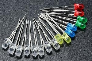 Balení barevných LED diod - 160 kusů...