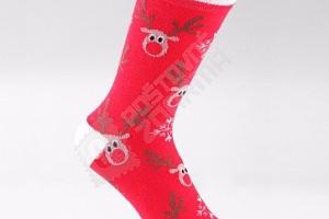 Teplé zimní ponožky s vánočními motivy...