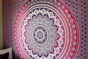 Univerzální bohémský šátek s motivem mandaly...