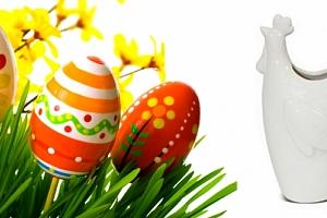 Dekorační keramická velikonoční váza...