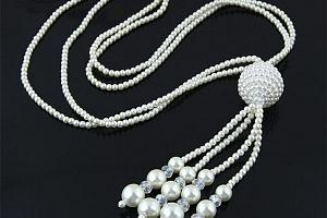 Dlouhý náhrdelník s masivním přívěskem...