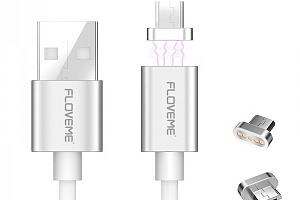 Micro USB kabel s magnetickým adaptérem...