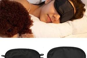Černá maska na oči na spaní...