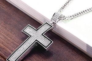 Řetízek s masivním křížem...