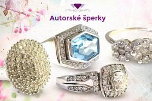 Luxusní zlaté starožitné briliantové prsteny...