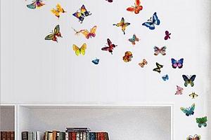 Motýlci samolepka - 60 ks...