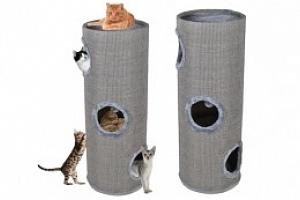 Kočičí škrabadlo, věž 100x36 cm, šedá...