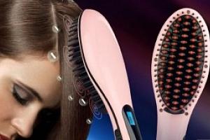 Ionizační kartáč na vlasy s LCD displejem na žehlení vlasů...